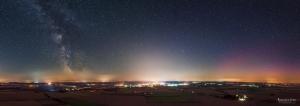 Polarlicht panorama