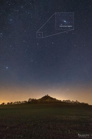 Sternenhimmel über dem Desenberg