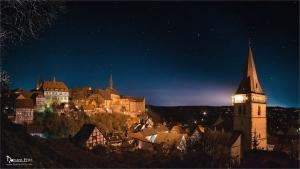 Warburg - Ausblick von der Kanone bei nacht.