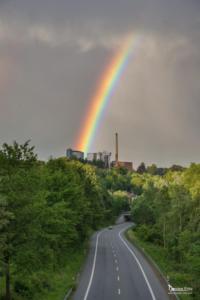 Regenbogen über Zuckerfabrik Warburg