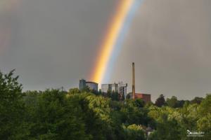 Regenbogen über der Zuckerfabrik Warburg