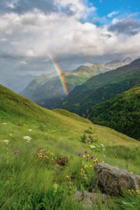 Regenbogen am Großglockner