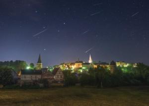 Perseiden Sternschnuppen über Warburg