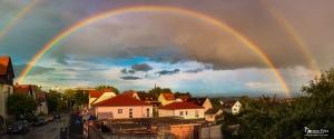 Regenbogen über Warburg