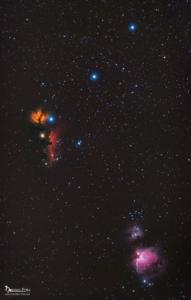 Orion und Pferdekopf Nebel